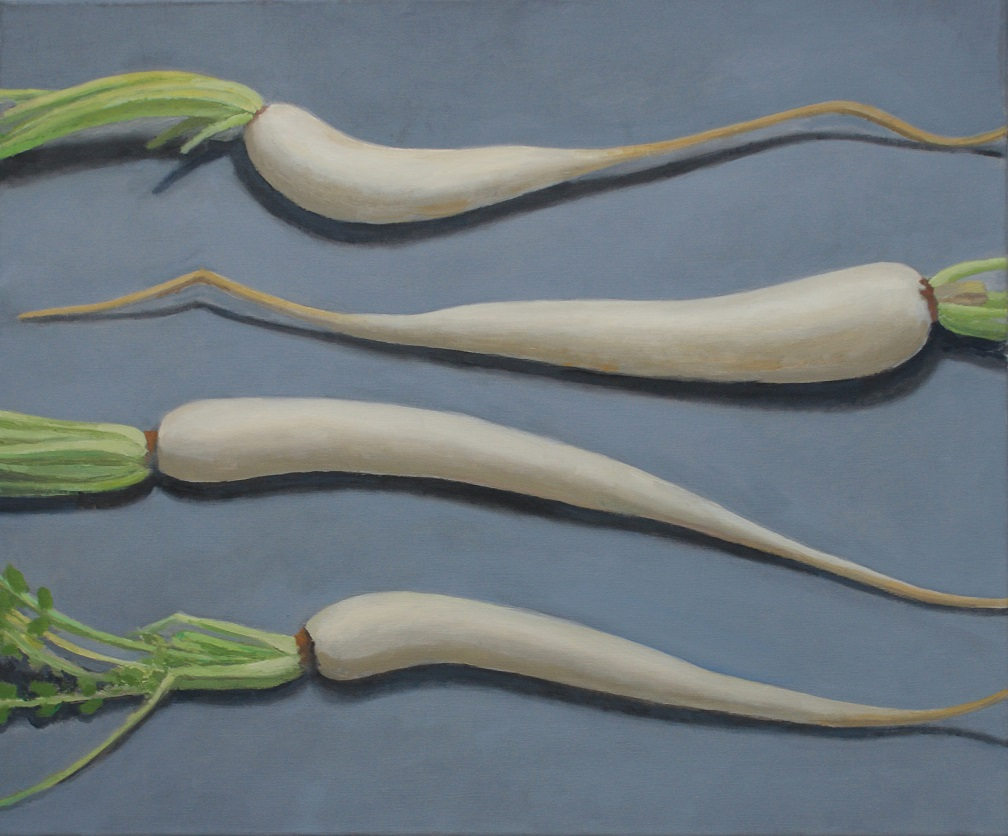 Indian Radishes. 2014. Oli on canvas, 50x60 com