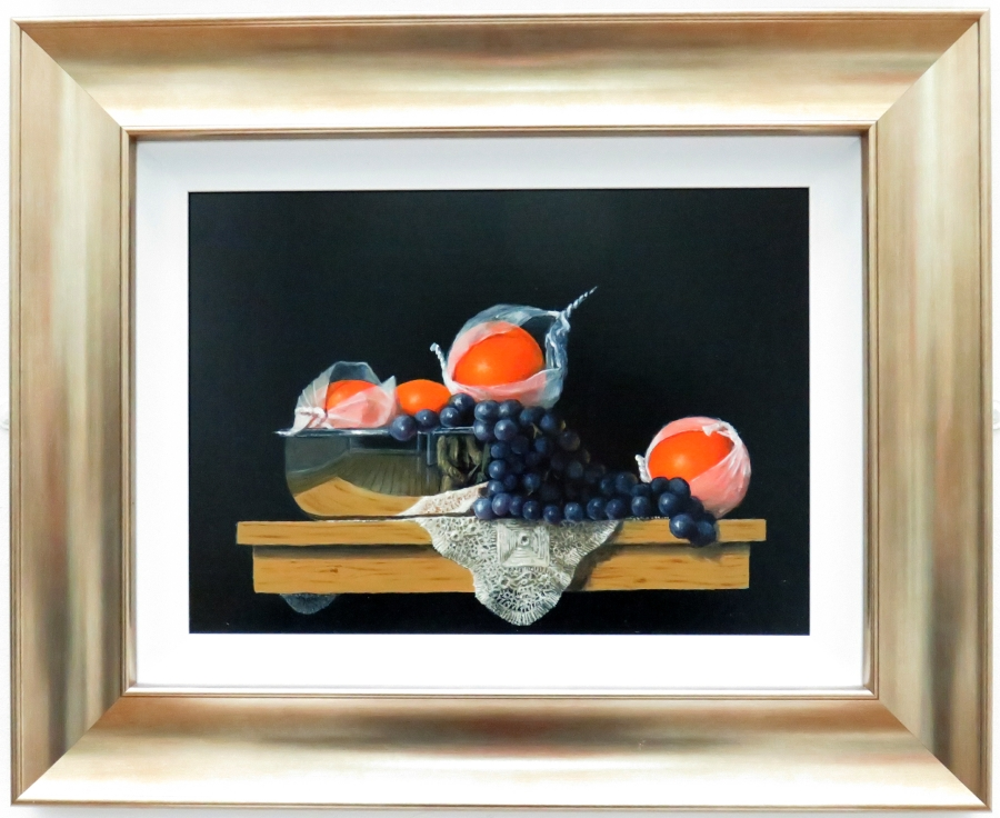 Clive Melbourne Still Life with Fruit and Lace
