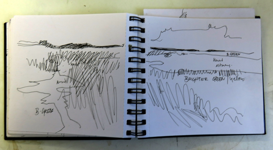 Sketchbook used on Norfolk visit